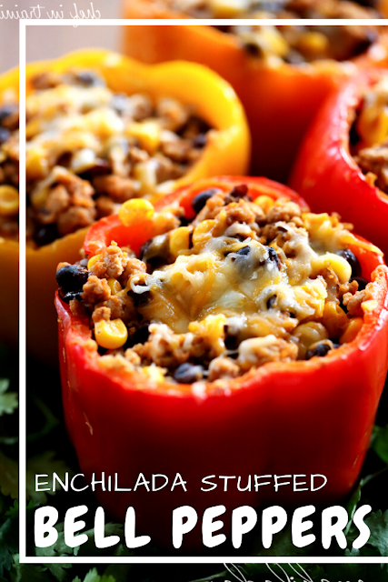 Skinny Enchilada Stuffed Bell Peppers In 2020 Stuffed Peppers Recipes Cooking Recipes