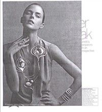 From Vogue magazine:  an article devoted to the revival of Art Smith's modernist jewelry.