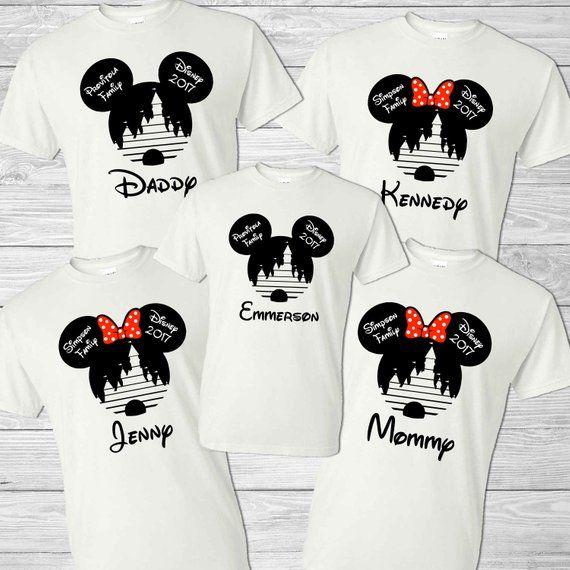 52f48da1a Disney Custom Shirts - Custom Disney Family Shirts - Disney Ears - Mickey  Disney Christmas - Couples