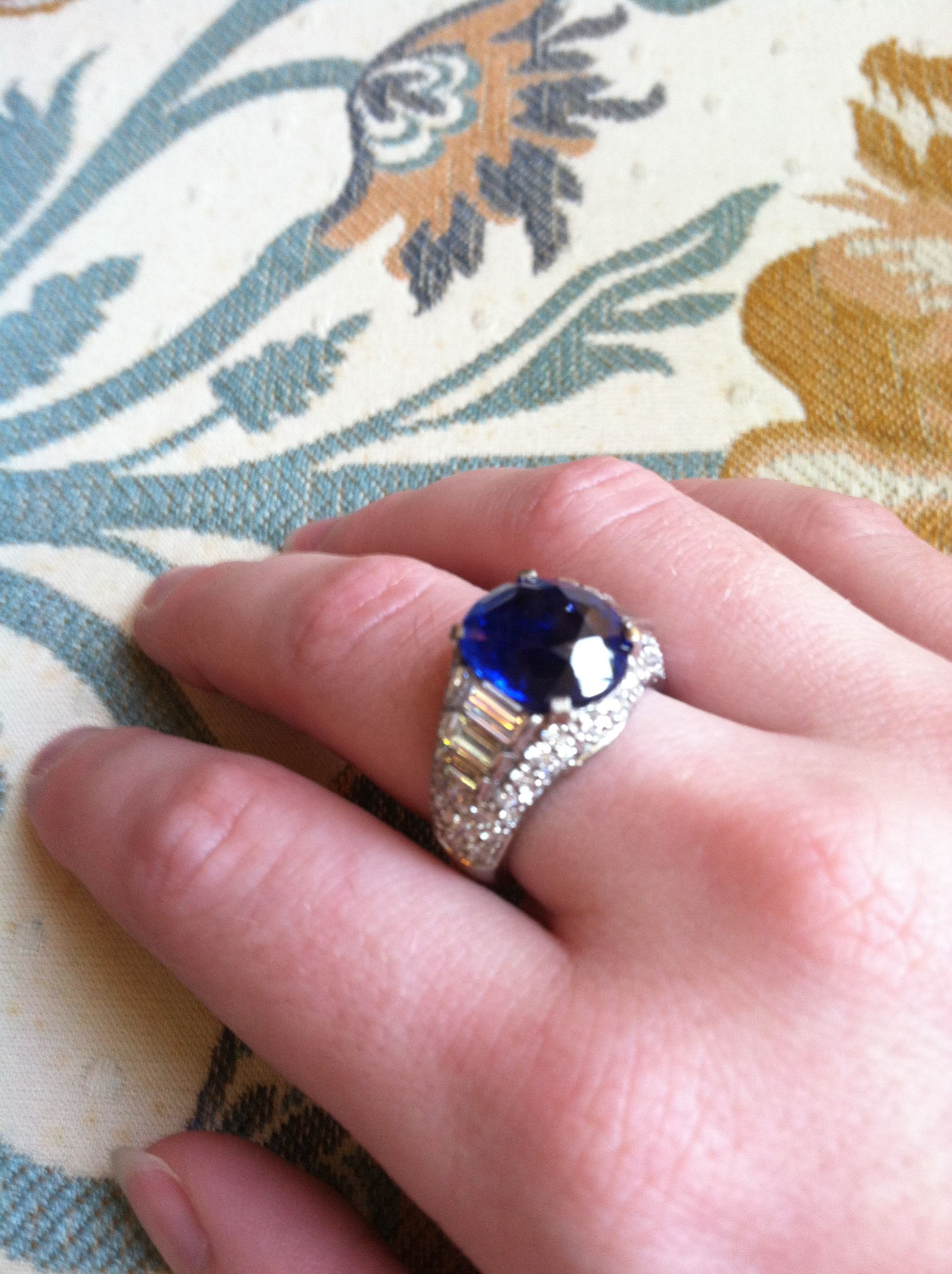 Sapphire and Diamond Ring, 8.20 carats! 800.642.GIFT | September ...