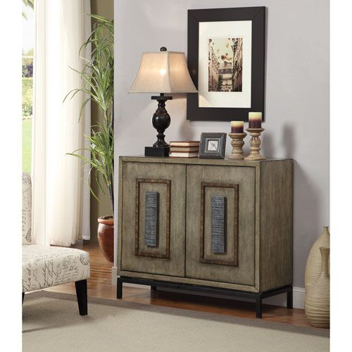 A squared tubular base holds aloft this majestic cabinet. Clean lines and our nature inspired Pennfield Burnished Driftwood finish are emphasized and reinforced by the natural finishes on the oversized raised handles and surrounding rectangular form. A stately platform for display in any decor.