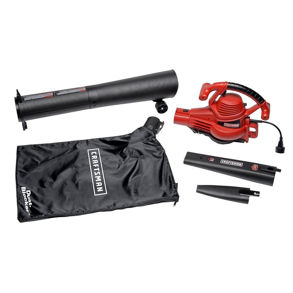 Craftsman variable speed blower vac 12 amp corded blowers