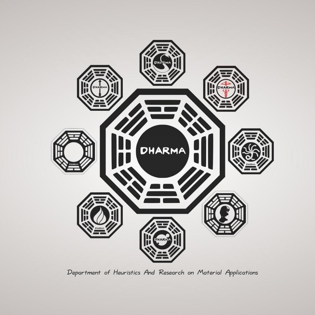 Dharma Initiative Lostlive Together Die Alone Pinterest Tvs