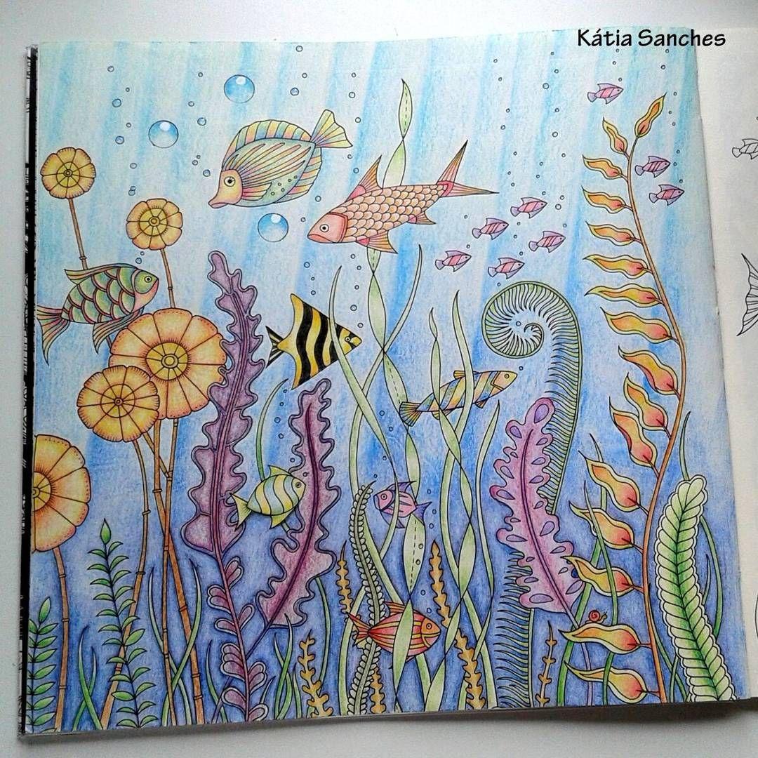 Ocean coloring | Basford coloring | Pinterest | Océano, Colorear y ...