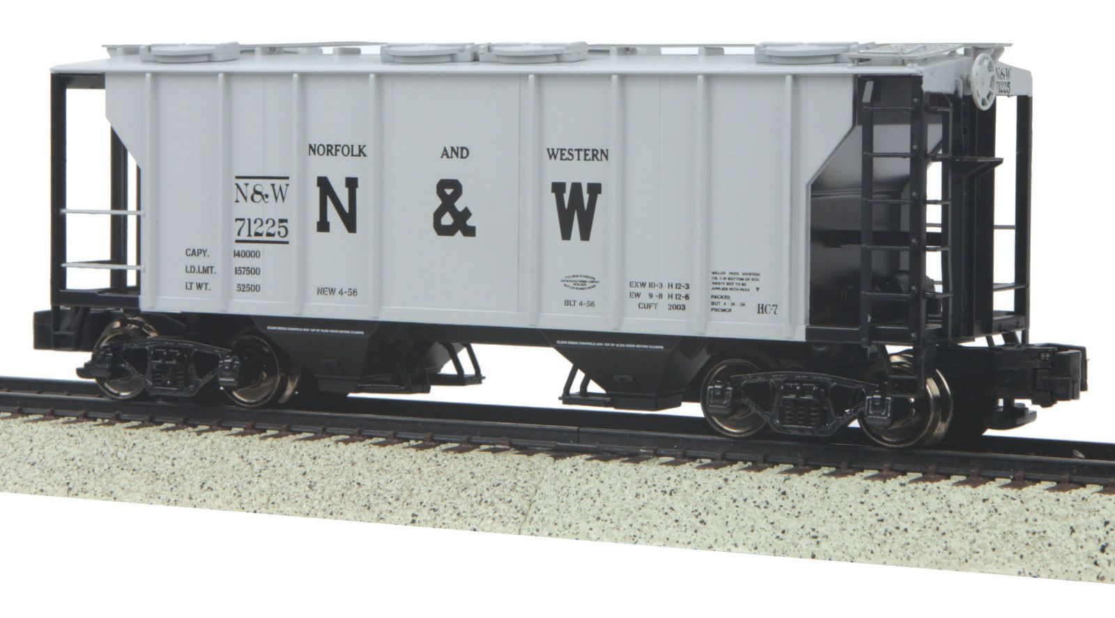 MTH S Gauge PS-2 Hopper Car Norfolk /& Western  35-75042