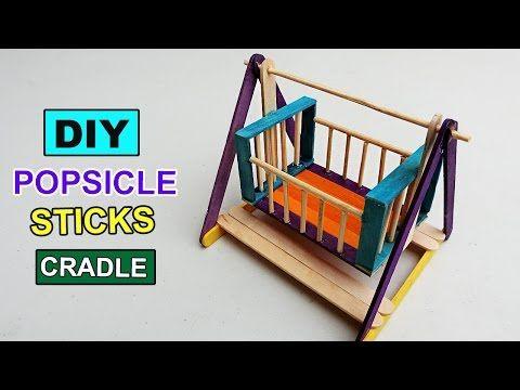 2 Mini Popsicle Sticks Playground Toys DIY Swing