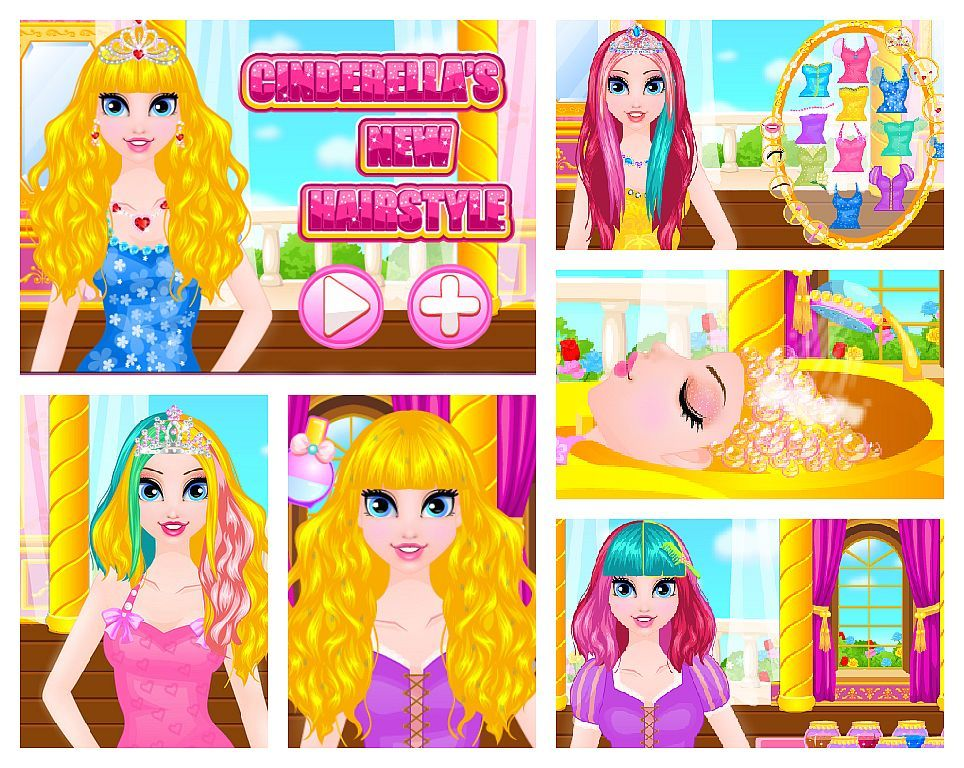 Hairstyles Games Unique Gameoftheday Httpwwwgirlgames4Ucinderella_Snewhairstyle