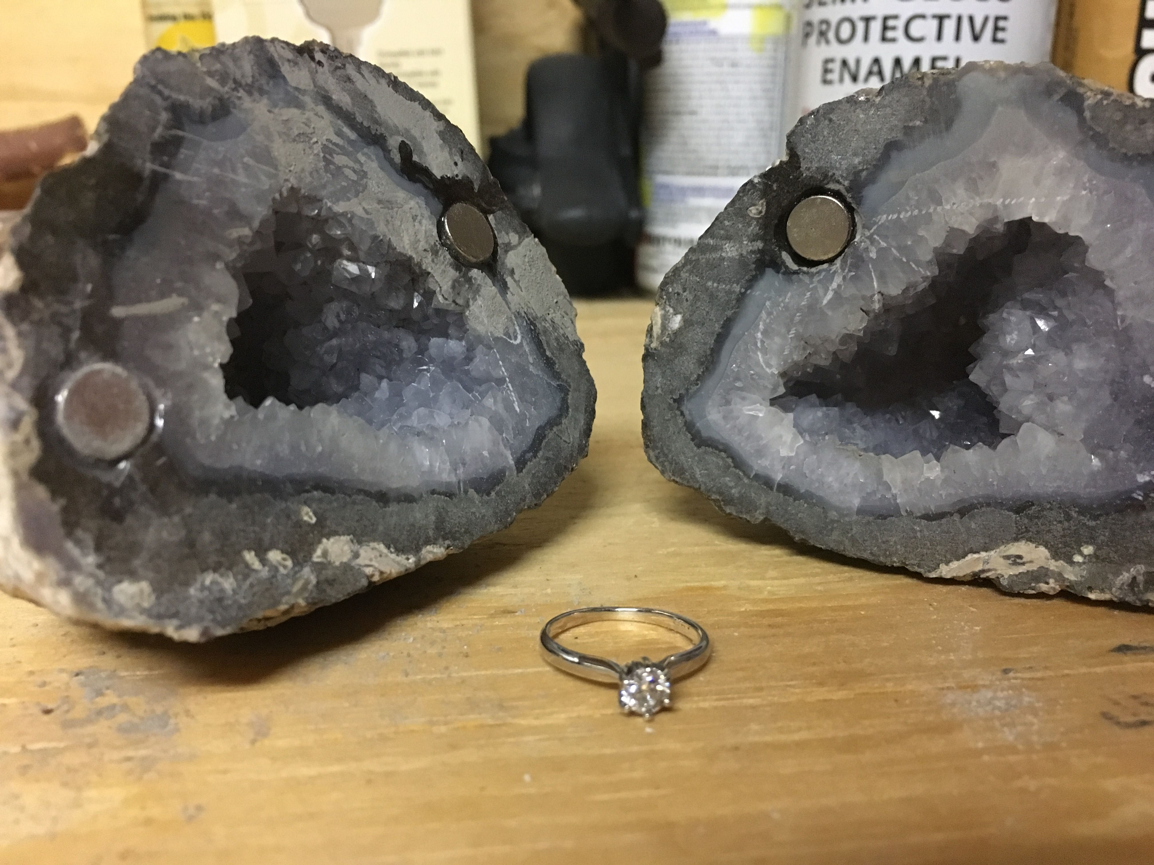 I Made My So A Geode Engagement Ring Box Quickcrafter Diy