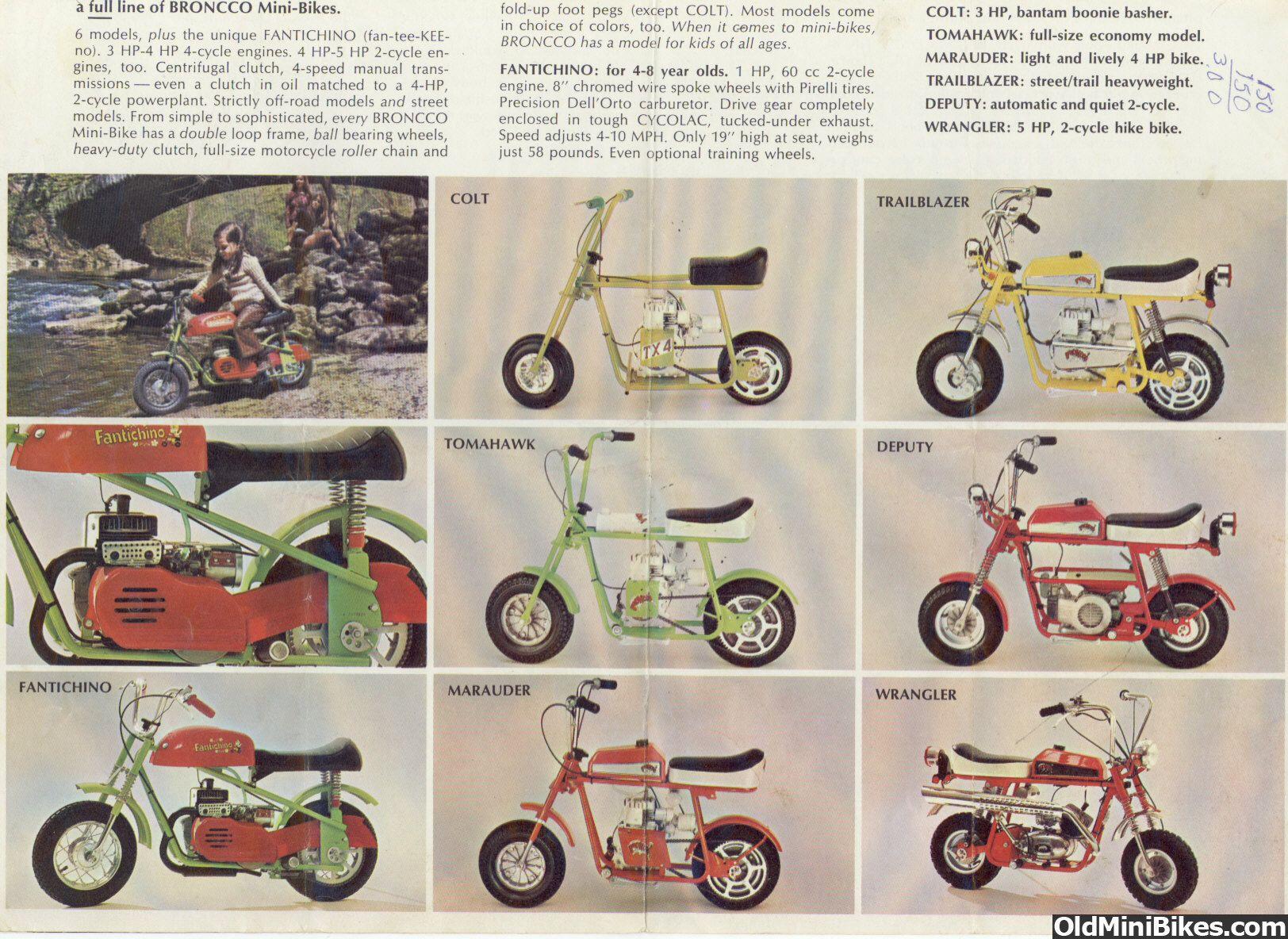 Broncco Mini Bikes Advertisement Mini Bike Bikes For Sale Bike