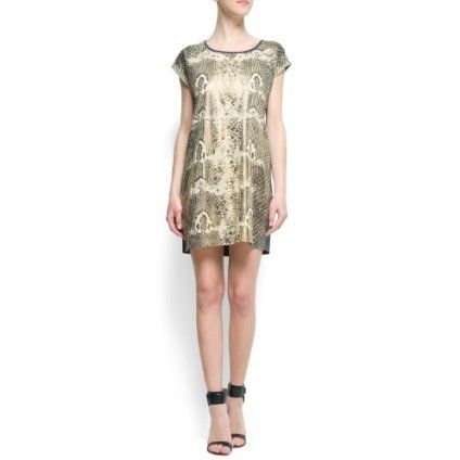 Mango Women`s Snake Print Dress $39.99