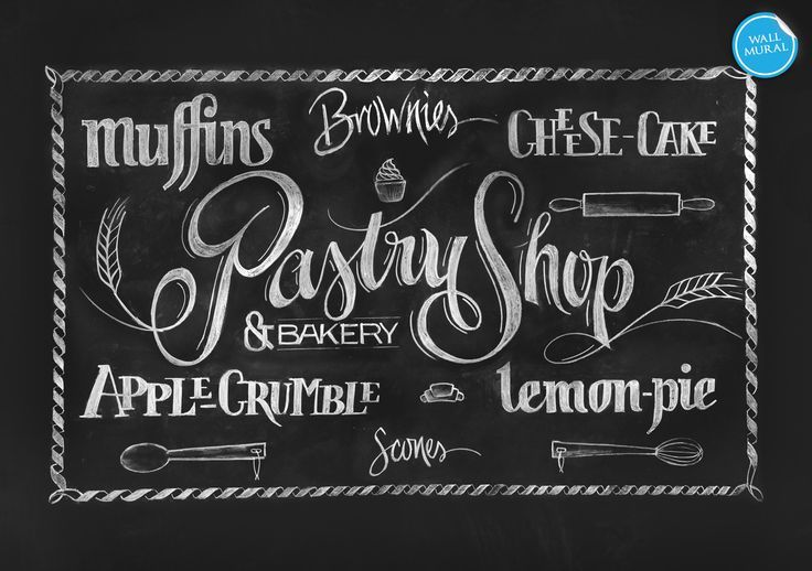 bakery sign chalk google search kitchens pinterest