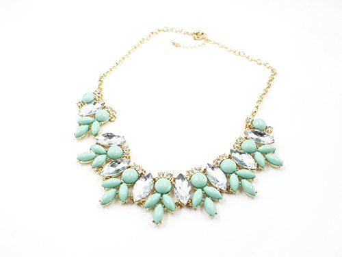 Alice & Abby Rhinestone Crystal Acrylic Resin Statement Fashion Necklace Green Alice & Abby http://www.amazon.com/dp/B00V5PN16O/ref=cm_sw_r_pi_dp_H6ocxb04S629S