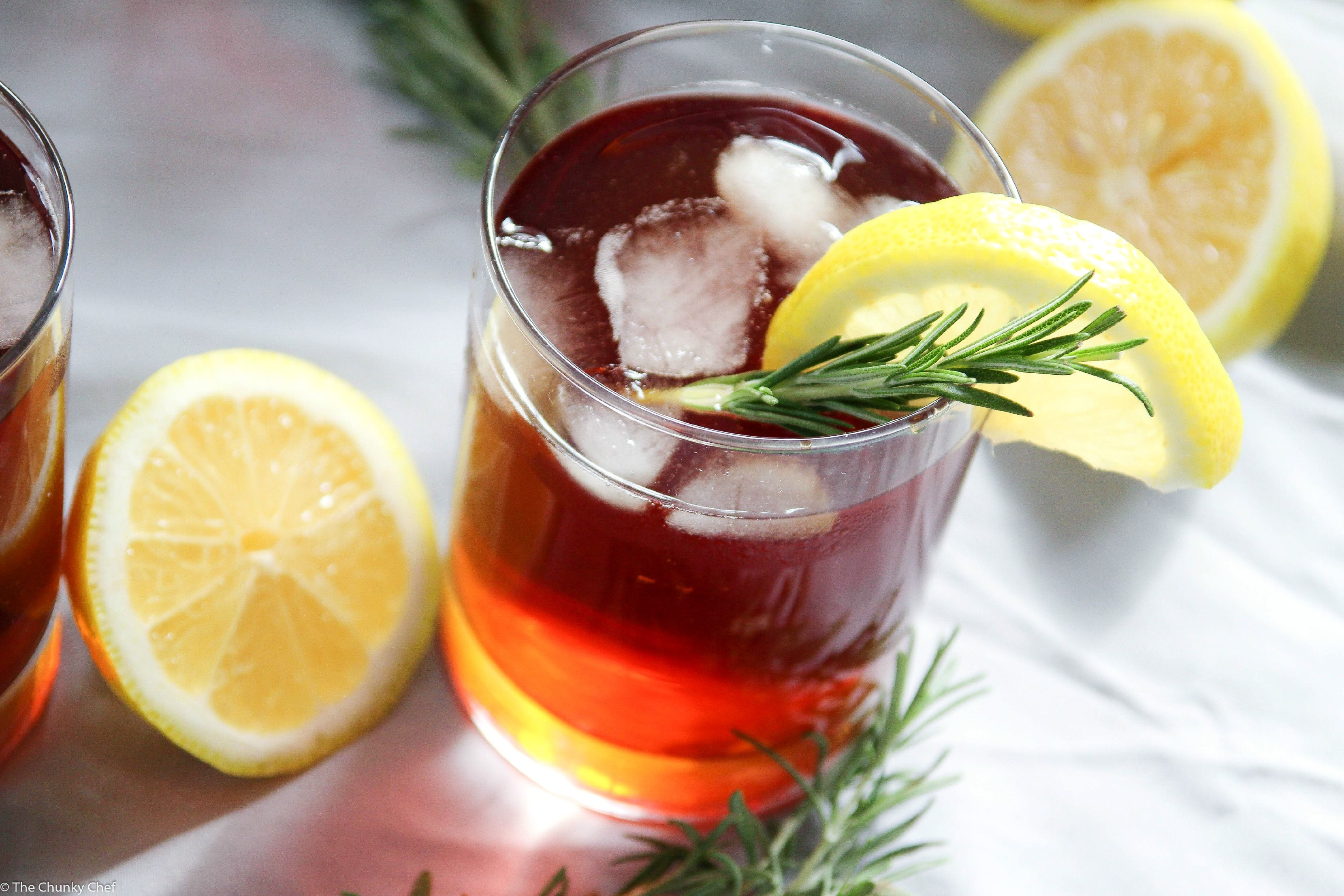 The Classic Sweet Iced Tea Gets A Refreshing Twist From The Addition Of A Lemon And Rosemary Simple S Homemade Caesar Salad Dressing Rosemary Simple Syrup Food