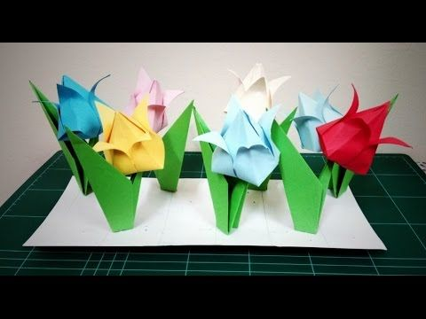 Diy flower how to make an origami tulip flower youtube i fold diy flower how to make an origami tulip flower youtube mightylinksfo