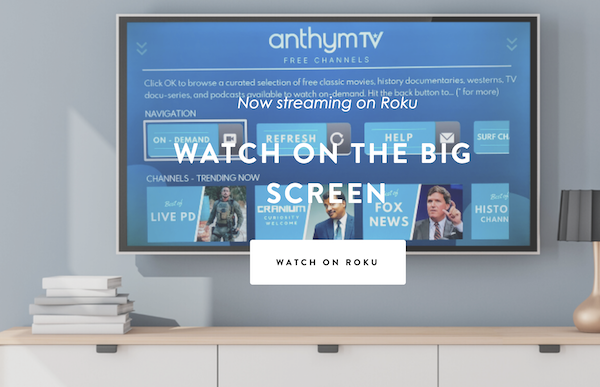 Anthym TV Watch 20 Live Cable Channels FREE! in 2020