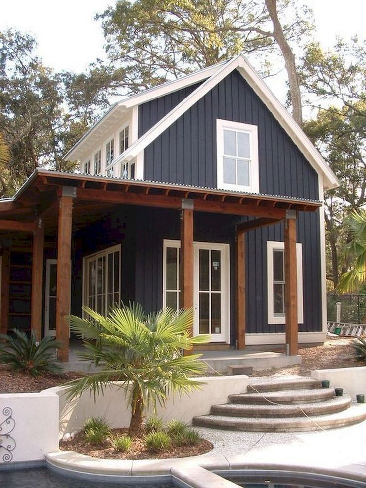27 Modern Farmhouse Exterior Design Ideas For Stylish But Simple Look Ruang Harga Cottage House Exterior Modern Farmhouse Exterior House Designs Exterior