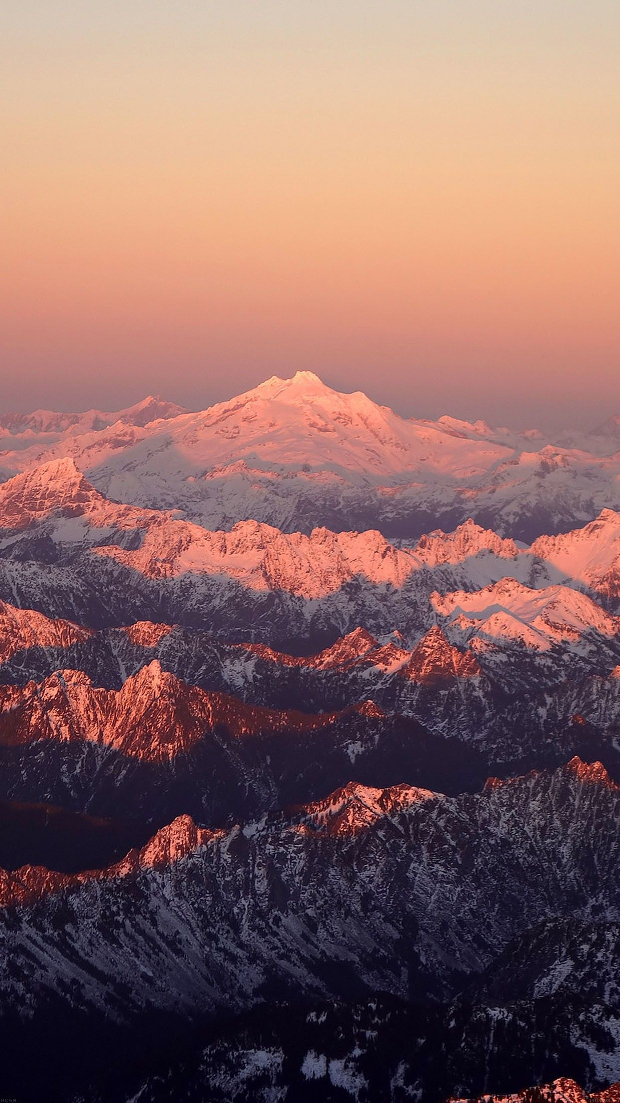Mountain Snow In Sunset Shadow Nature IPhone 6 Plus Wallpapers