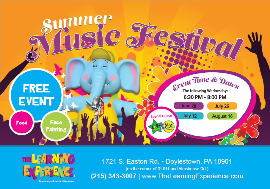 Summer Is Coming Join Us For A Free Evening Of Family Fun With Lolly Yoyo Face Painting F The Learning Experience Free Family Fun Child Development Center