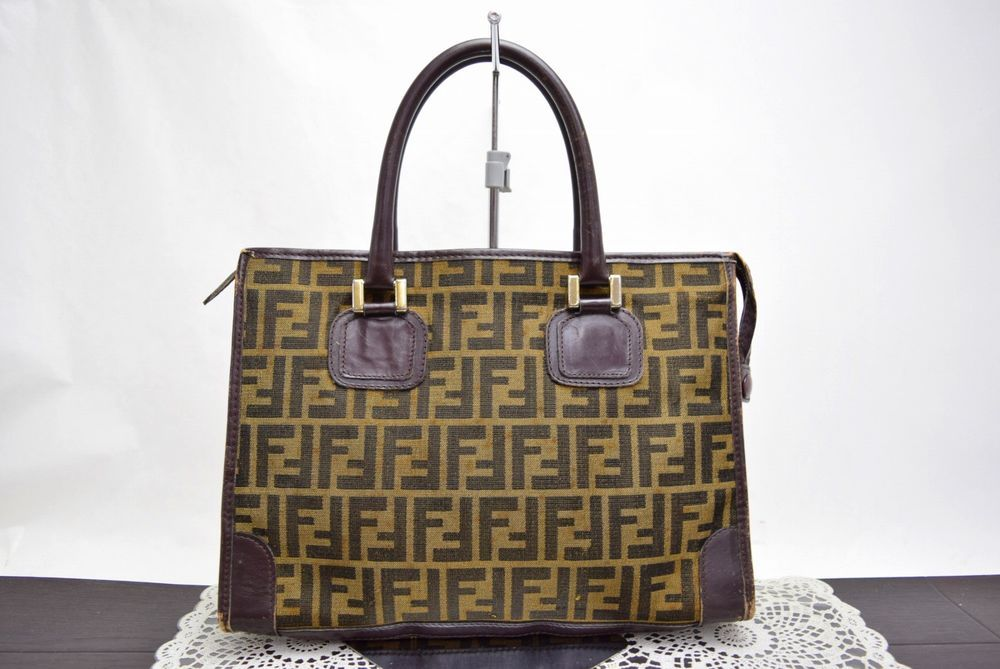 Authentic Vintage Fendi Hand Bag Zucca Browns Canvas 342293  fashion   clothing  shoes  accessories  womensbagshandbags (ebay link) d7d0c1508ac06