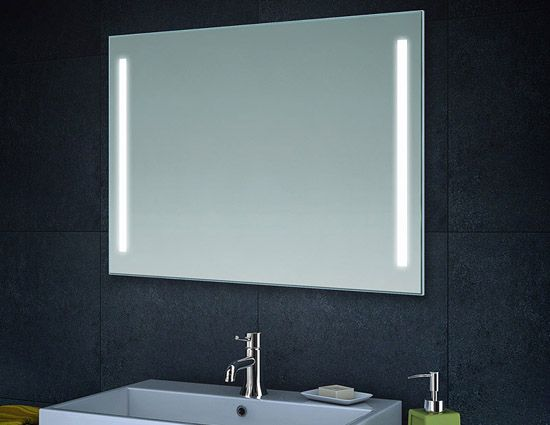 Großartig Badkamer spiegel met led verlichting 60x80 / 80x60 cm | Badkamer  QZ37