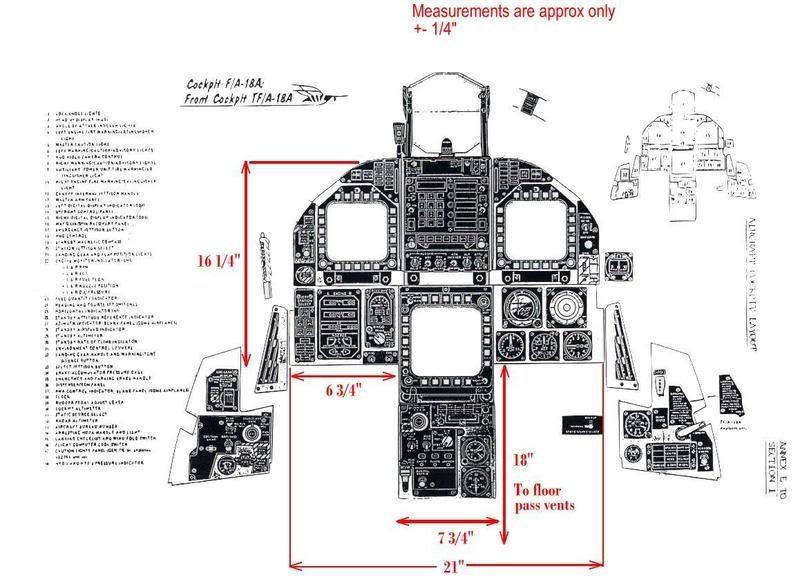 F 16 Cockpit Dimensions