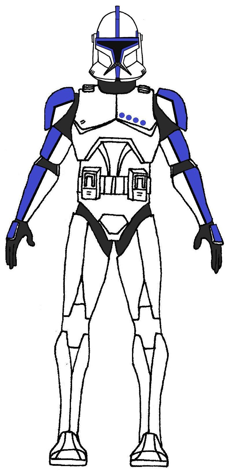 Clone Trooper Lieutenant Phase 1 | Clone Wars TV Show Units | Pinterest