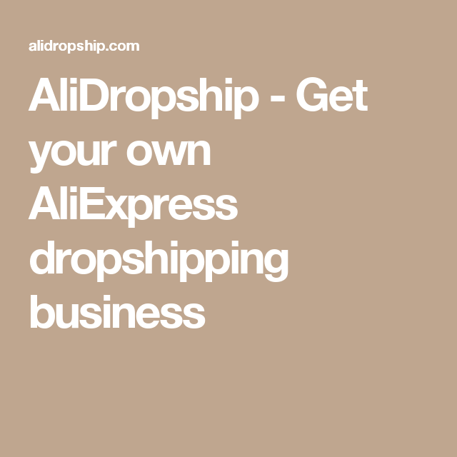 Pin On Alidropshipping