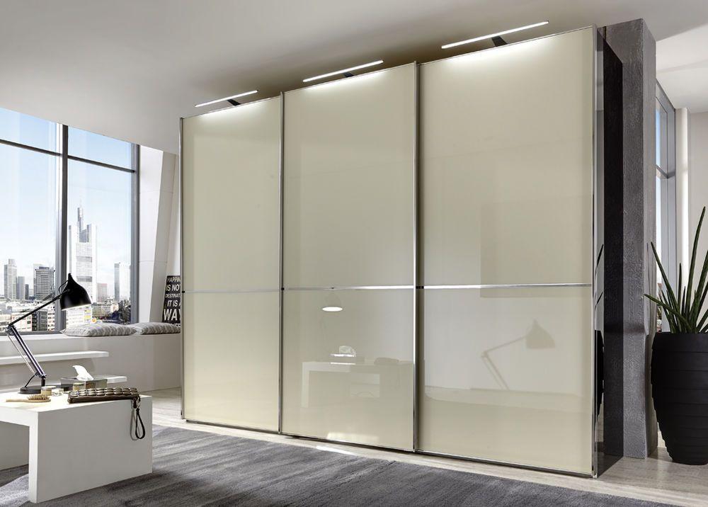 Kleiderschrank SHANGHAI B 300 H 236 cm 3x LED Schwebetüren Schrank