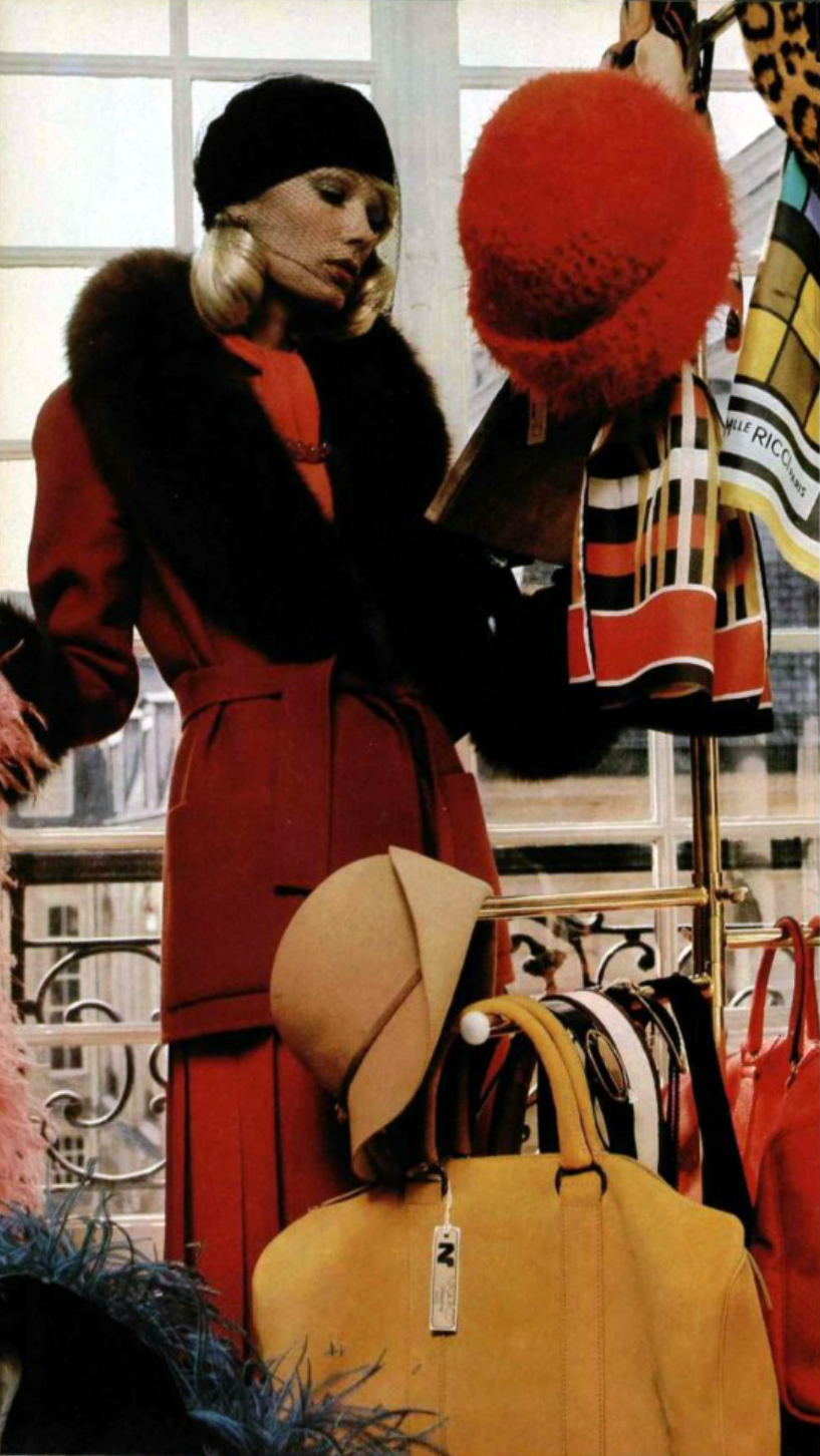 Nina Ricci. L'Officiel magazine 1972