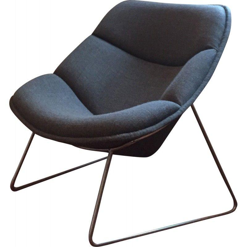 fauteuil gris artifort f558 pierre paulin 1961 pierre. Black Bedroom Furniture Sets. Home Design Ideas