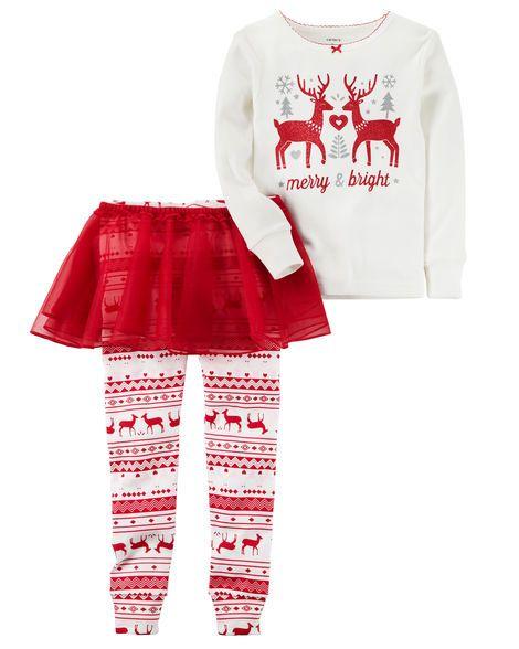 25ea00aa26 3-Piece Reindeer PJ Set
