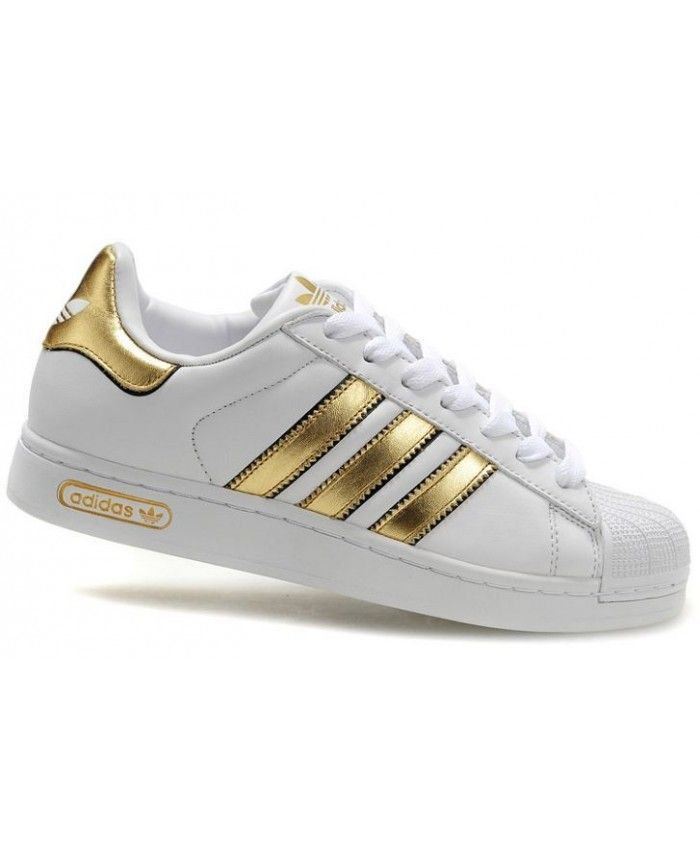 Adidas Superstar II White Gold Shoes