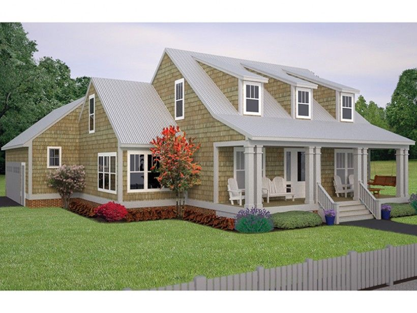 This home beautifully combines traditional and new elements with its classic cape cod exterior - House plans dormers ...