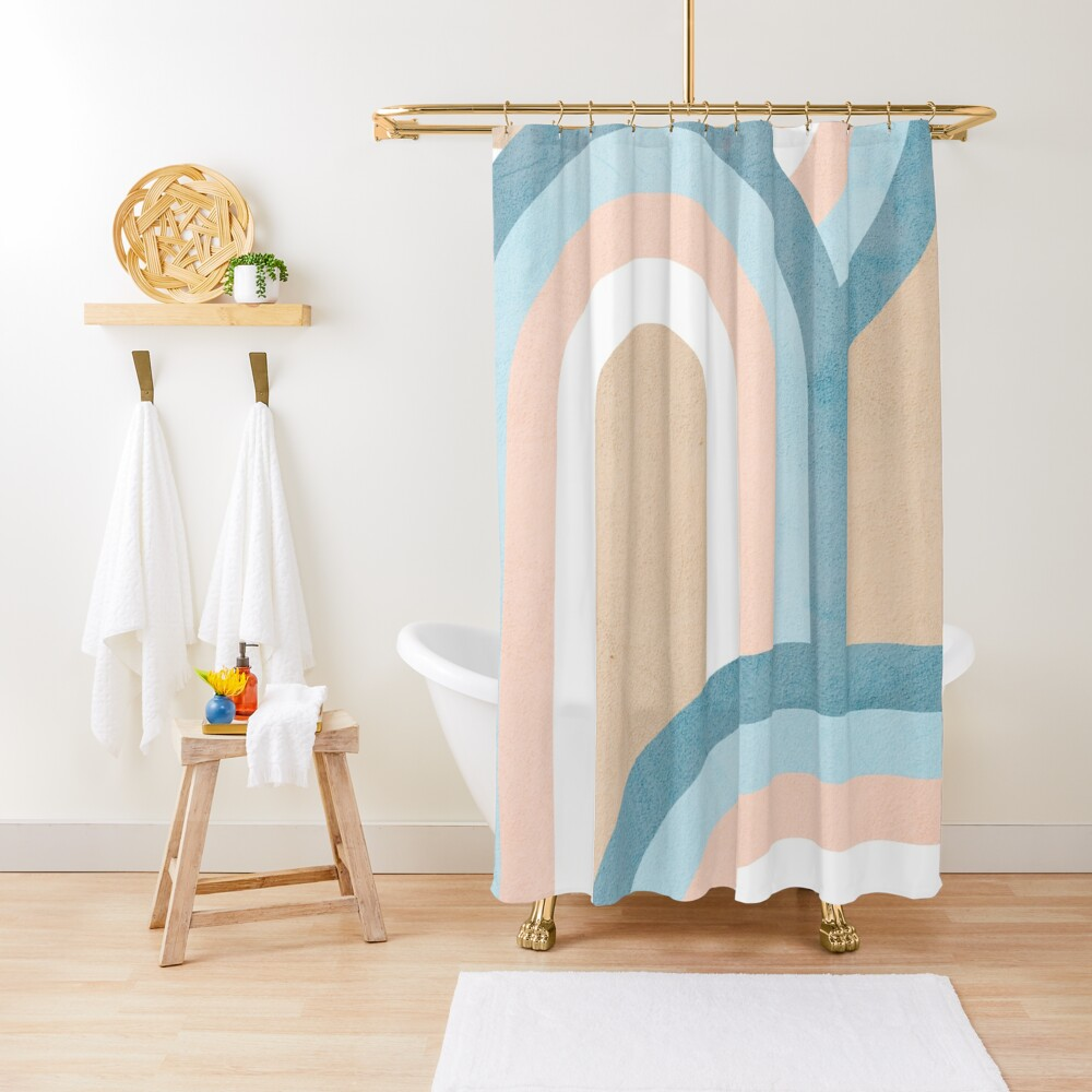 Retro Rainbow Connection 4 Positivevibes Rainbows Shower Curtain By Dominiquevari In 2020 Modern Shower Curtains Home Decor Designer Shower Curtains