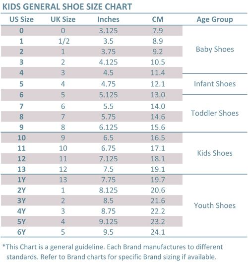 Baby Infant Toddler Kid Youth Size Chart Shoe Size Chart Kids Toddler Shoe Size Chart Baby Shoe Size Chart