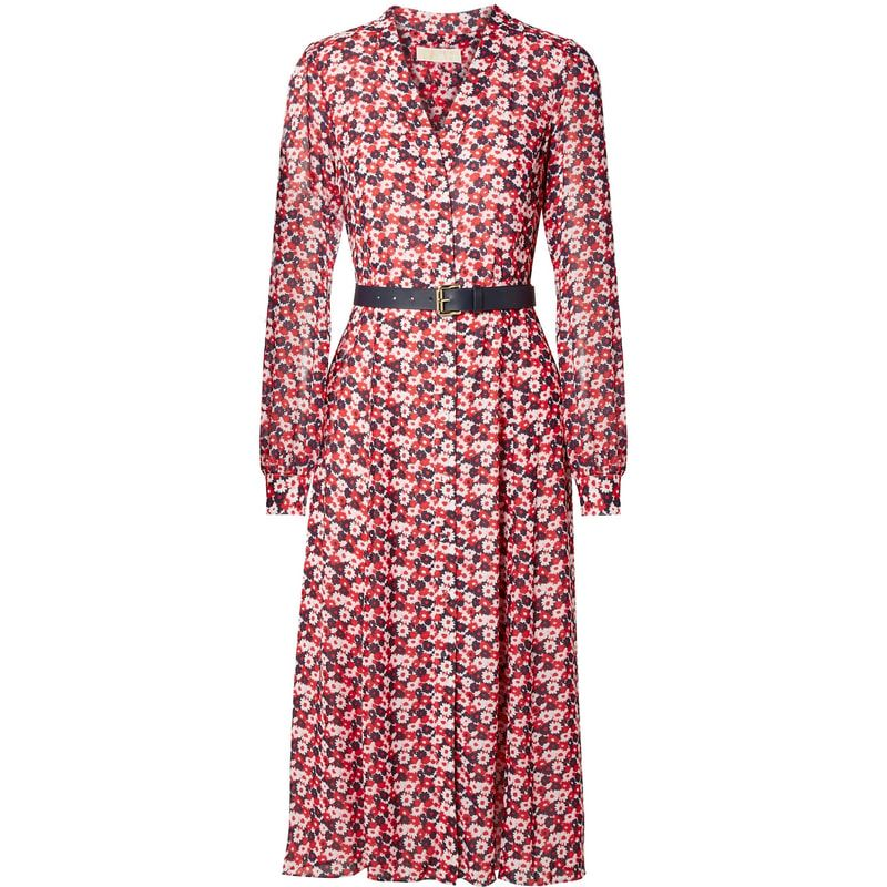 Michael Michael Kors Carnation Georgette Shirtdress In 2019