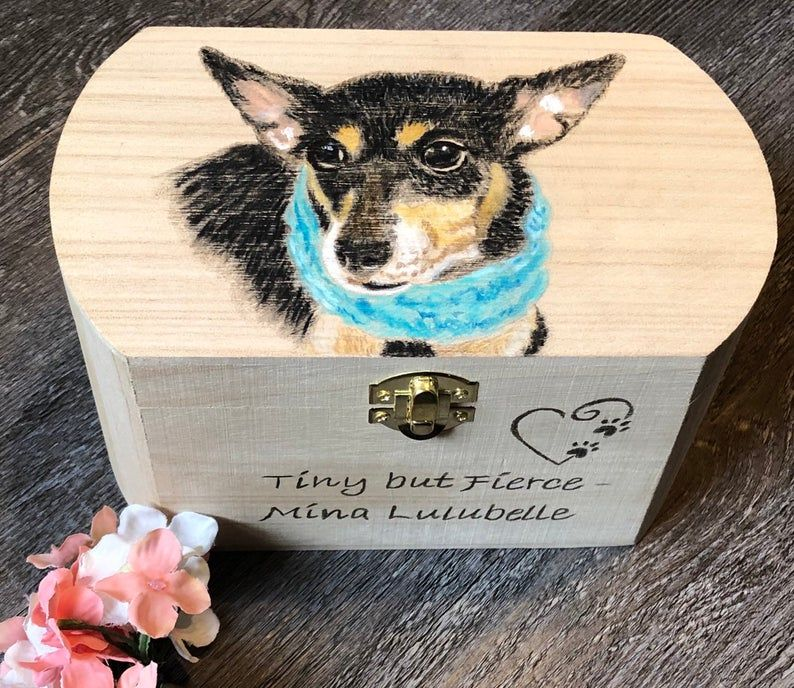 Custom Wooden Pet Urn Pet Memory Chest Personalized Dog Etsy