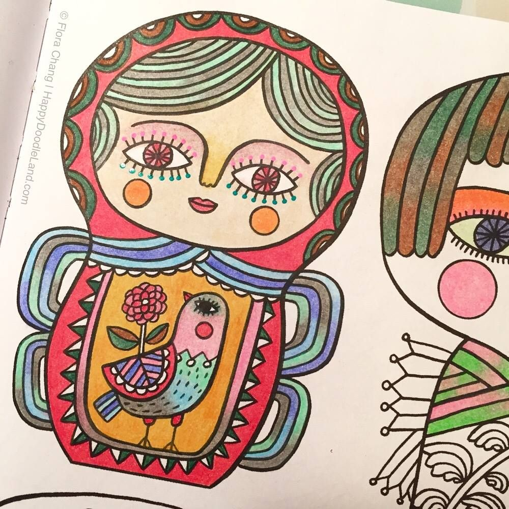 A Page From Posh Adult Coloring Book Happy Doodles For Fun Relaxation By Flora