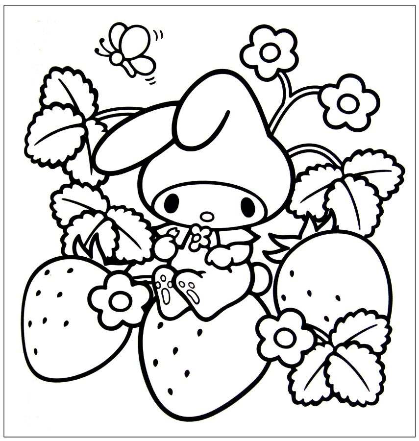 Kawaii Coloring Pages Coloring Pages Cute coloring