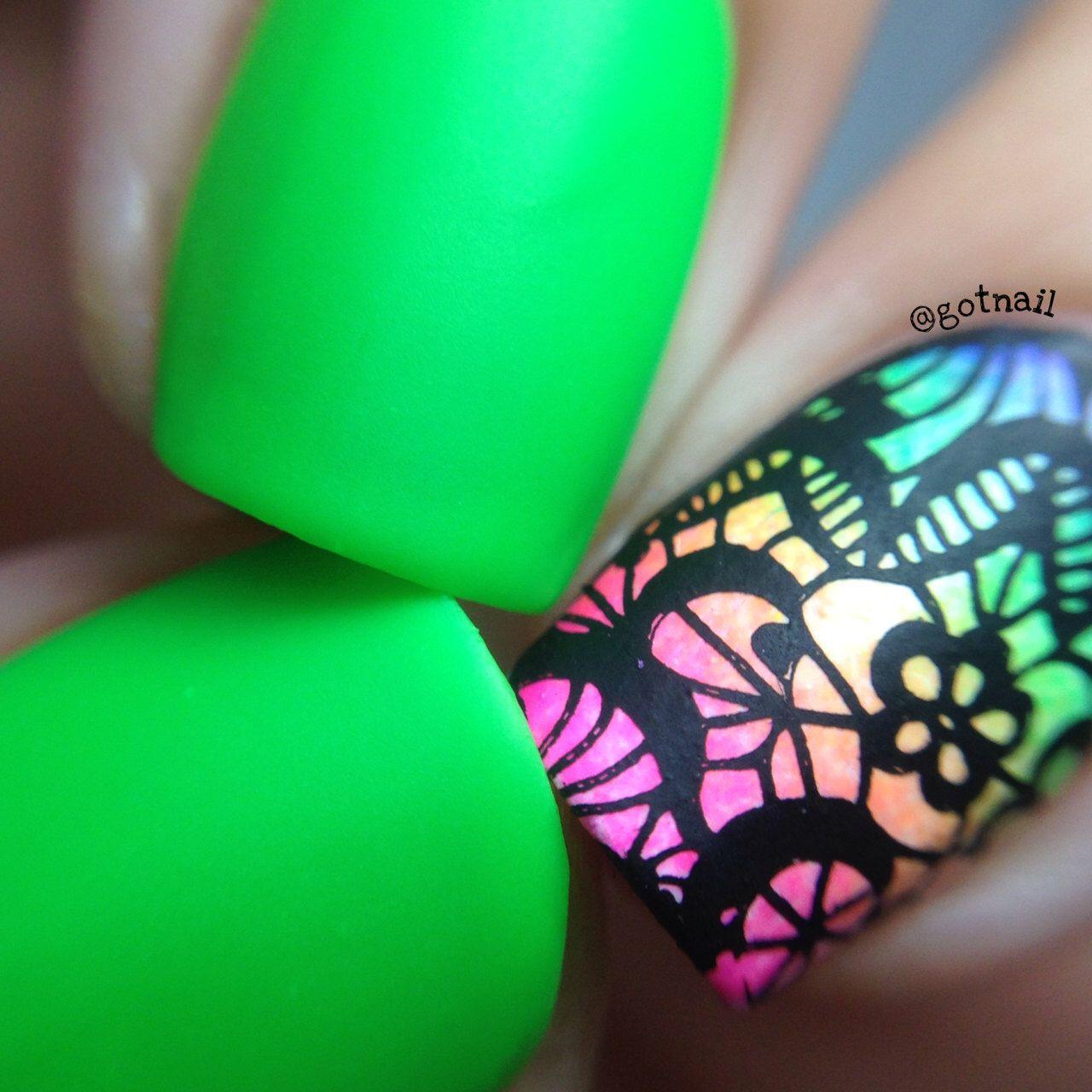 MATTE Neon Green Nail Polish – Glow in the Dark Nail Polish – Vegan Nail Lacquer – Nail Art – Nails – Talented – 5 Free – Vegan Makeup
