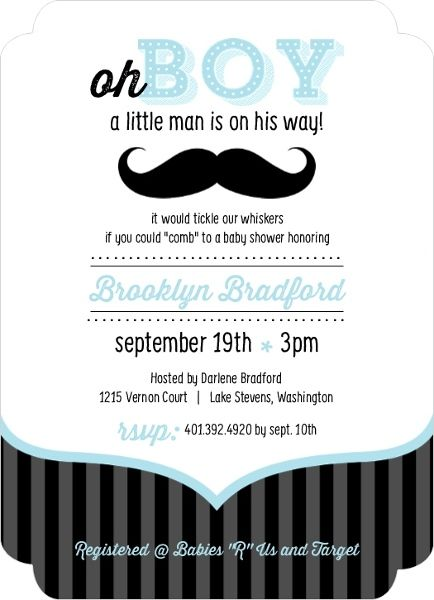 Blue and black moustache boy baby shower invites baby shower ideas blue and black moustache boy baby shower invites filmwisefo Image collections