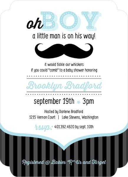 Blue And Black Moustache Boy Baby Shower Invites | Baby Shower Ideas |  Pinterest | Cheap Baby Shower, Shower Invitations And Boy Baby Showers