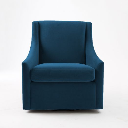 Best Swivel Arm Chair For The Corner Next To The Stairs Teal 640 x 480