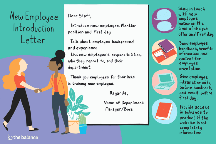 Welcome A New Employee With An Introduction Letter New