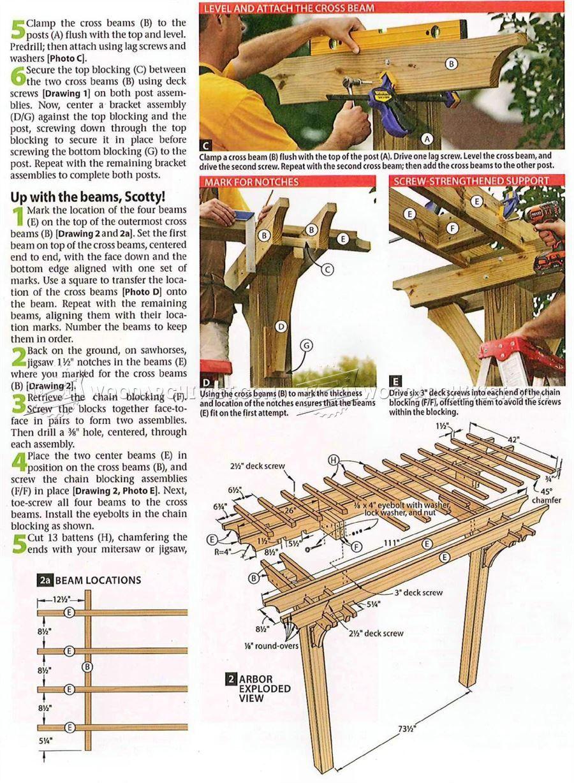 2519 arbor swing plans outdoor furniture plans качели