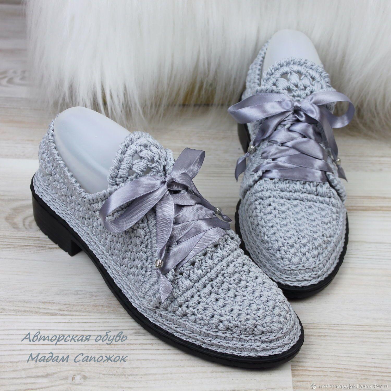 Обувь ручной работы. Ярмарка Мастеров - ручная работа. Купить Туфли с  атласными шнурками женские 52da81b100c