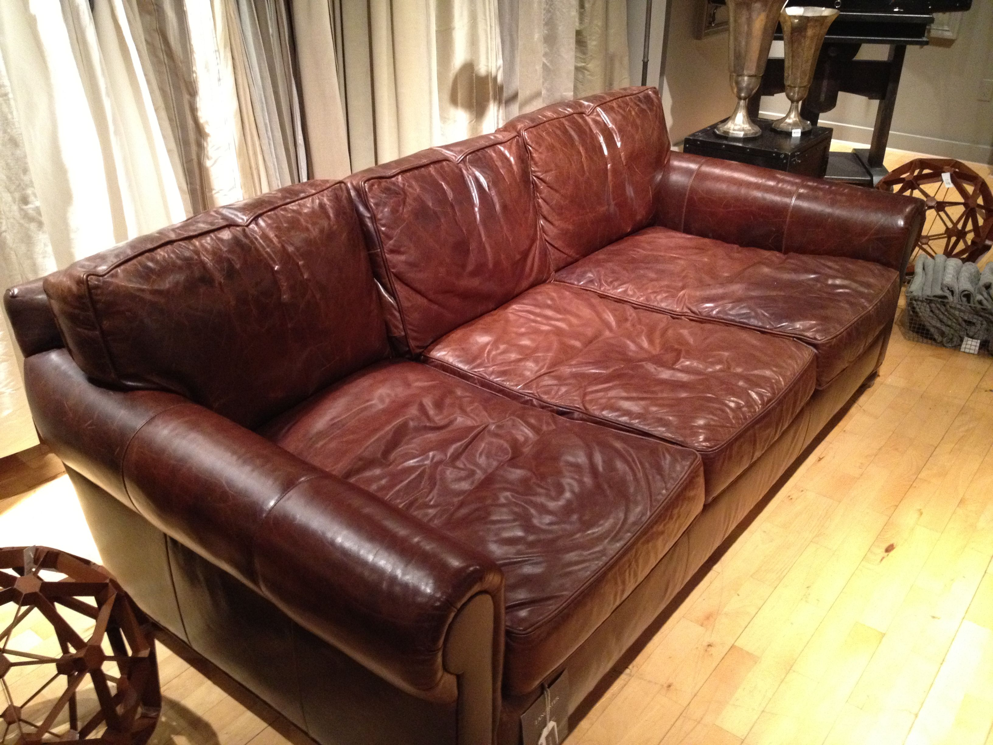 I Tried This Sofa Out At Restoration Hardware The Seats