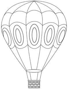 Hot Air Balloon Coloring Page Hot Air Balloons Ballon