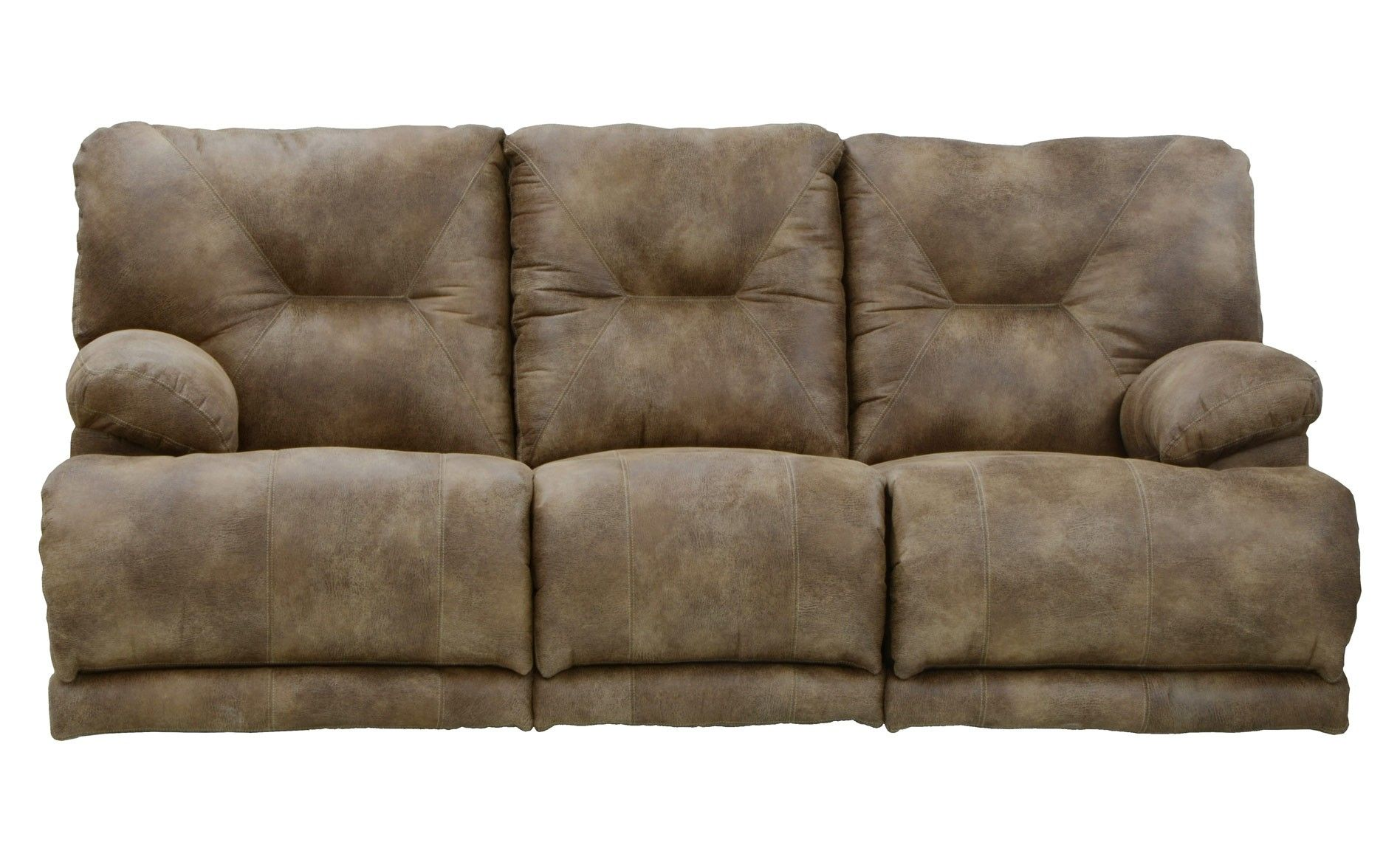 Montana Lay Flat Triple Reclining Sofa W Drop Down Table