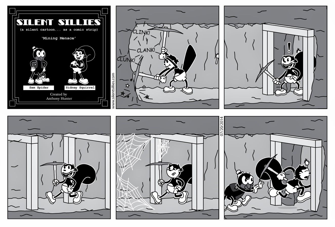 Silent Sillies: Mining Menace a minecraft inspired comic